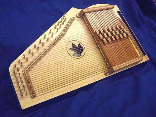 the modernconcert zither looks like this (note the fretted